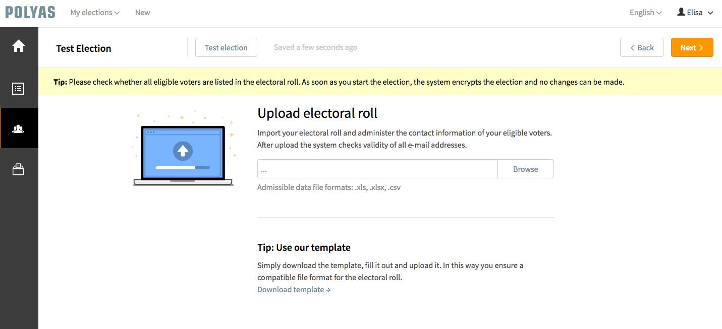 Télécharger facilement le bulletin de vote sur la plateforme de POLYAS